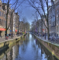 Le canal d'Amsterdam